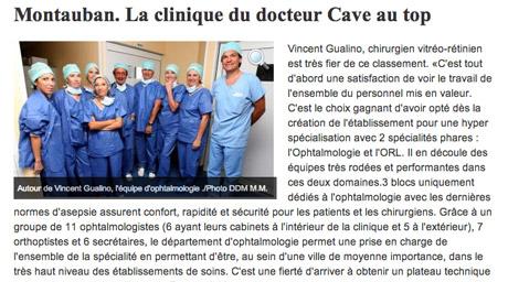 Presse et classement - Clinique Honoré Cave